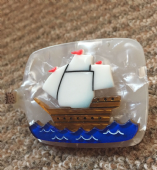 Erstwilder Impossible Voyage Brooch - Limited Edition Ship in a Bottle Brooch (SOLD)